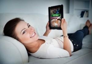 Thuis iPad gamen